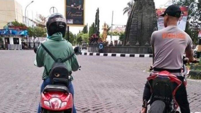 Nasib Pria Berkaus Polisi Viral Tak Kenakan Helm, Kini Terancam Hukuman Berlapis