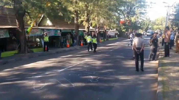 VIDEO - Suasana Olah TKP Tewasnya Pemotor Diduga Ditabrak Pemilik Mercy di Samping Mapolresta Solo