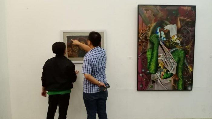 Susanto-Kokom Gelar Pameran Seni Rupa Tunggal Berdua 'Bebrayan' di Balai Soedjatmoko Solo