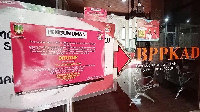 Tiga PNS Positif Covid-19, Kantor BPPKAD di Pemkot Solo Tutup 5 Hari, 70 Pegawai Kerja dari Rumah