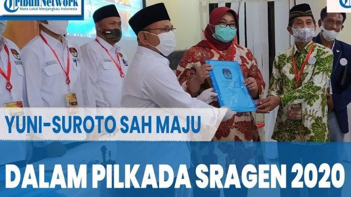 Jago PKS & Gerindra Sukiman-Iriyanto Kandas, Yuni-Suroto Lawan Kotak Kosong di Pilkada Sragen 2020