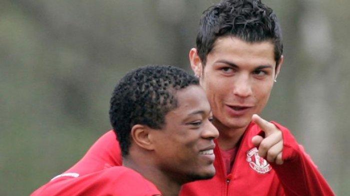 Patrice Evra dan Cristiano Ronaldo