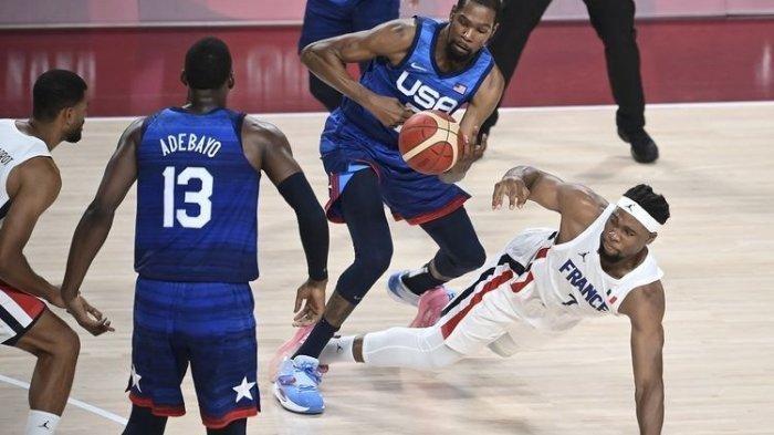 Kevin Durant Cs Takluk di Tangan Timnas Prancis, Rekor 17 Tahun Amerika Serikat di Olimpiade Runtuh