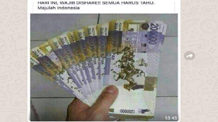 Beredar Gambar Pecahan Rp 200 Ribu di Pesan Grup WhatsApp, Begini Penjelasan Bank Indonesia