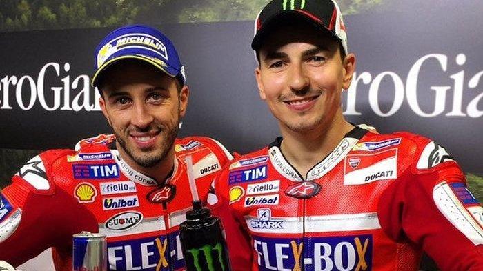 Ducati tak Ingin Insiden Jatuhnya Jorge Lorenzo dan Andrea Dovizioso Terulang di MotoGP 2019