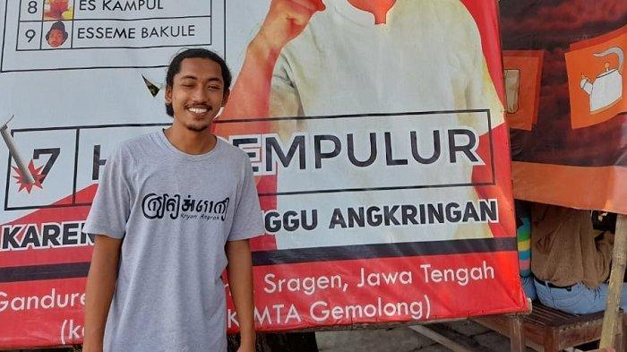Kisah di Balik Bakul HIK Viral Bikin Baliho Bak Politisi : Mahasiswa UNS Solo, Dijuluki S3 Marketing
