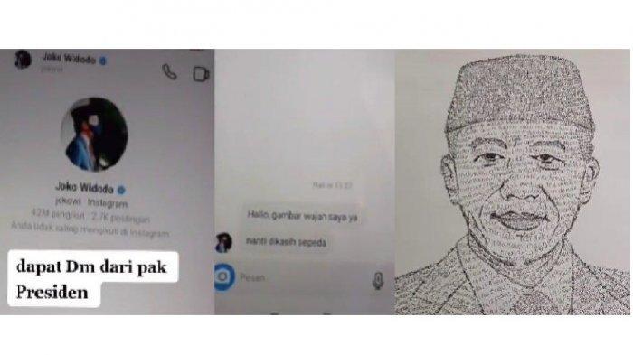 Beredar Video Pemuda Ngaku Dapat DM dari Jokowi dan Diminta Bikin Sketsa, Ternyata Begini Faktanya