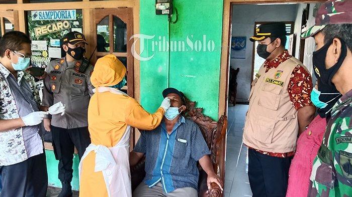 Satgas Kecamatan Sukoharjo Door to Door Datangi Pemudik, Tes Rapid Antigen di Depan Rumah