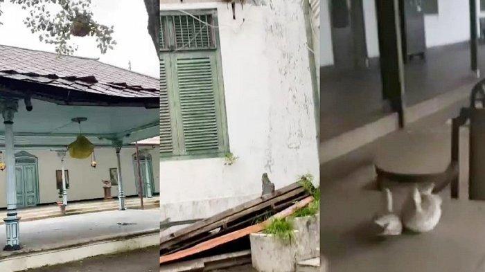 VIDEO : Penampakan Suramnya Kondisi Keraton Solo, Atap Ambrol hingga Panti Rukmi Kotor Luar Biasa
