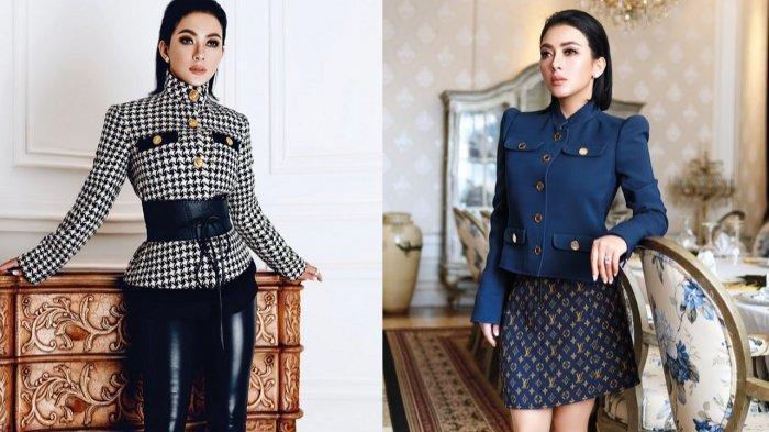Syahrini Pemotretan untuk Majalah, Istri Reino Barack Ini Tampil Glamor dengan Baju-baju Branded