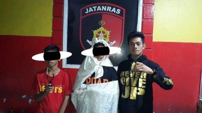 Kerap Takuti Pengendara Dengan Aksi Prank Pocong, Dua RemajaIni DitangkapPolrestabes Makassar