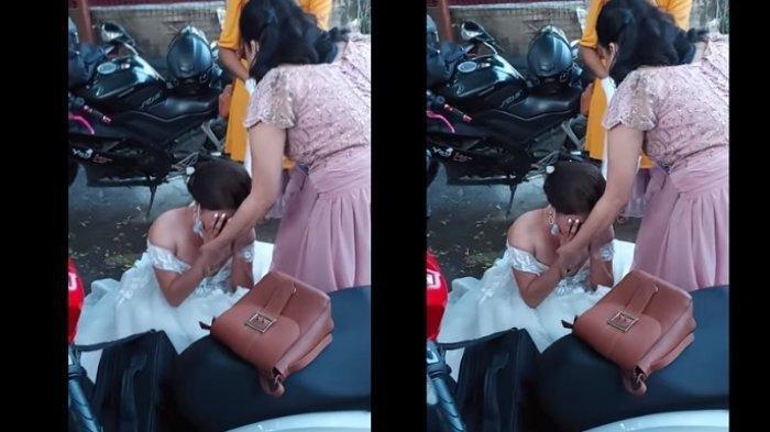 Viral Pengantin Resepsi Tanpa Pelaminan & Catering karena Ditipu WO, Mempelai Menangis saat Pesta