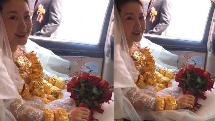 Viral Pengantin Pakai 60 kg Kalung Emas di Leher, Bukannya Iri, Tamu Malah Kasihan dengan Si Gadis