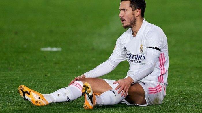 Penyerang sayap Real Madrid, Eden Hazard, kembali mengalami cedera.