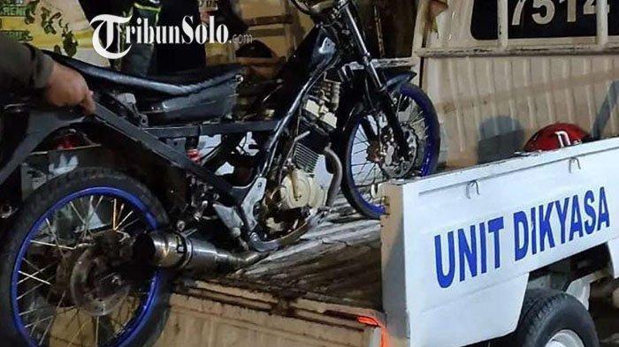 Puluhan Motor Milik Pesilat Diamankan Polisi di Karanganyar: Konvoi Knalpot Brong, Langsung Tilang