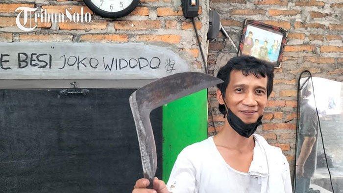 Perajin Pandai Besi di Klaten Menangis saat Bertemu Presiden Jokowi, Ternyata karena Namanya Sama