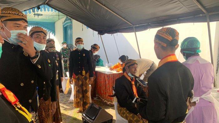 Persiapan Pernikahan putri Raja Solo, GRAy Putri Purnaningrum dengan Rizki Baruna Aji, Rabu (24/3/2021).