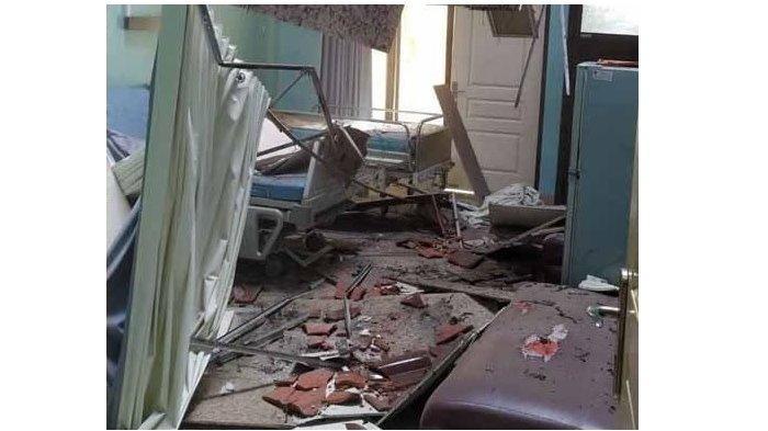 Dampak Gempa Malang, Atap Rumah Sakit Mardi Waluyo di Blitar Ambrol