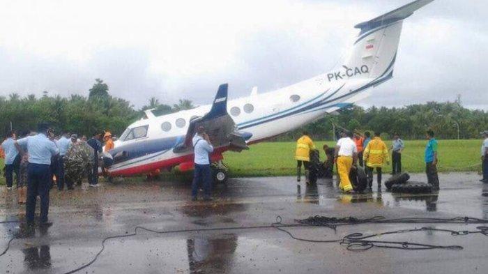 Diduga karena Cuaca, Pesawat Milik Kemenhub Tergelincir di Ambon
