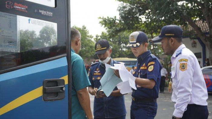 Jelang Mudik Lebaran, Dishub Sukoharjo Gelar Razia Bus, 4 Kena Tilang, 1 Diminta Pulang