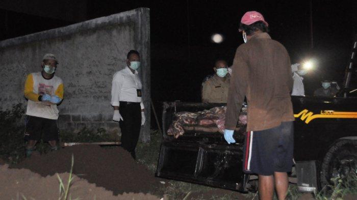 Dini Hari Cegat Mobil Pikap, Polres Wonogiri Amankan 270 Kg Daging Glonggongan yang Akan Dipasarkan