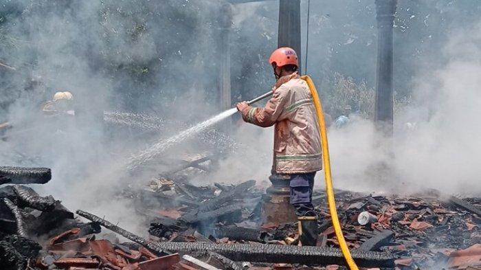 Lupa Matikan Api di Tungku Memasak, Rumah Warga di Sragen Habis Terbakar, Tak Ada Korban Jiwa