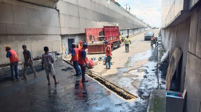Aspal di Underpass Makamhaji Sering Rusak, Padahal Selalu Diperbaiki, Ternyata Ada Sumber Air