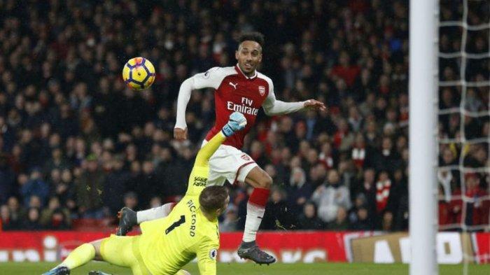 Hasil Akhir Valencia Vs Arsenal di Liga Europa: Hat-trick Aubameyang Bawa The Gunners Menang Banyak