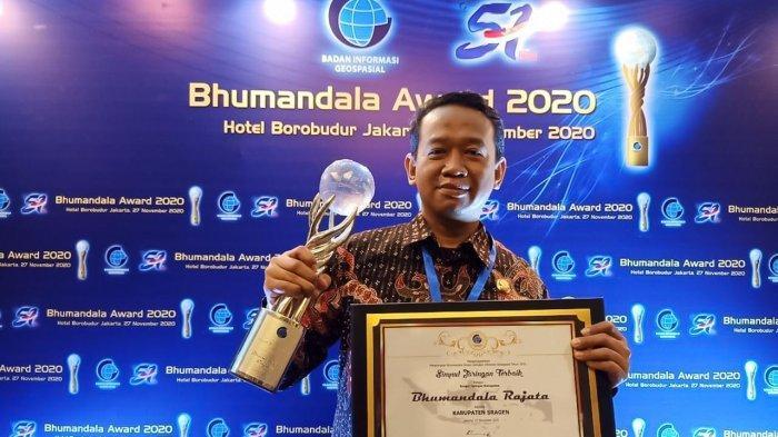 Data Geospasial Baik, Pemkab Sragen Kembali Raih Penghargaan Bhumandalaa Rajata Untuk Kali Ketiga