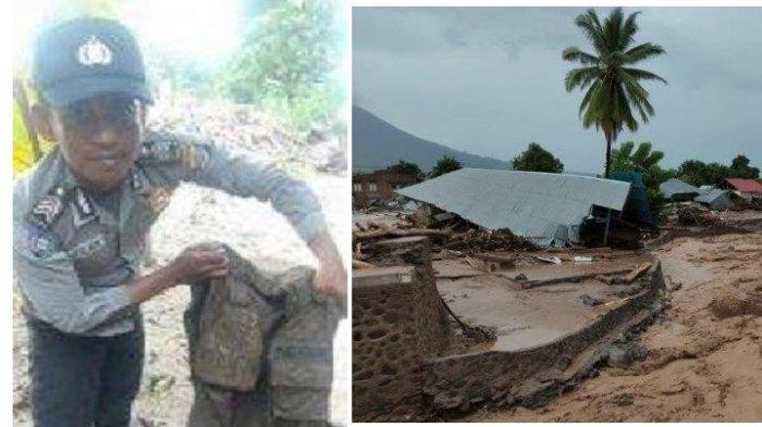 Kisah Polisi Tetap Bertugas Meski Rumah Hancur Tersapu Banjir NTT, Pinjam Baju Teman saat Bekerja