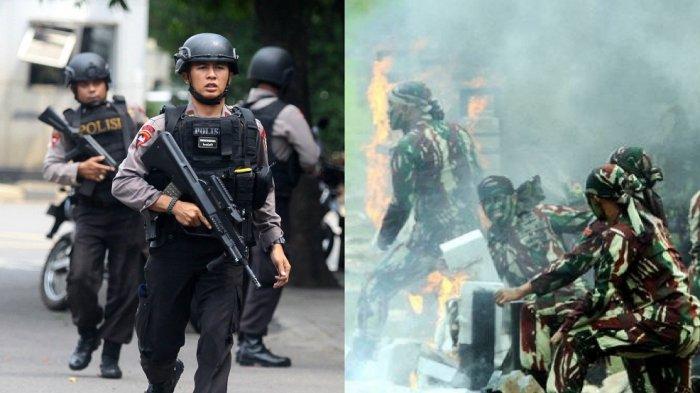 Kopassus Terjun Buru Teroris, Twitter Ramai Voting Dukungan Polri dan TNI, Hasilnya Tak Terduga