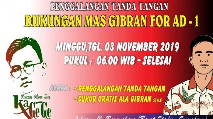 Minggu Besok, Kagege Galang Tanda Tangan untuk Gibran Maju Pilkada Solo 2020