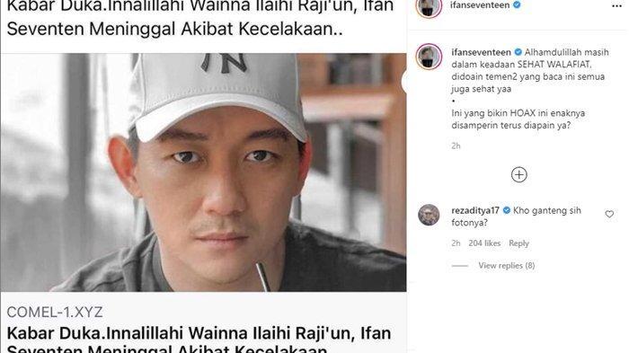 Postingan Ifan Seventeen di Instagram