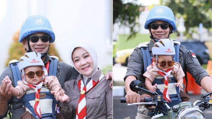 Arka Putra Bungsu Ridwan Kamil Genap Setahun, Gemasnya Didandani Pakai Seragam Pramuka saat Ultah