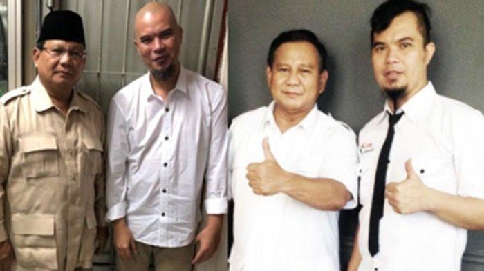 Dapat Bingkisan dari Prabowo, Ahmad Dhani: Selamat Berjuang merebut apa yang menjadi Hak Mas Bowo