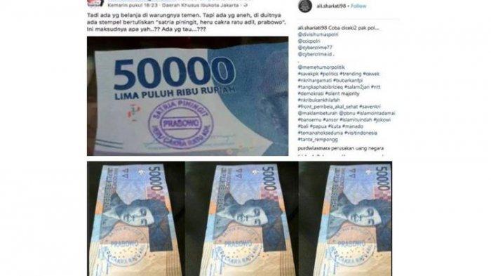 Jawaban Bank Indonesia Soal Beredar Foto Uang Berstempel Prabowo di Media Sosial