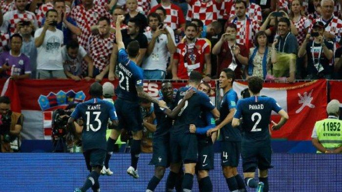 Ulangi Sukses 20 Tahun Lalu, Prancis Juarai Piala Dunia 2018 Seusai Kalahkan Kroasia