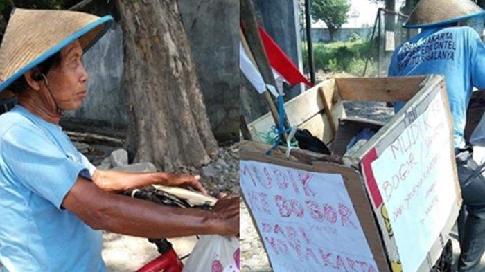 Foto Seorang Pria Disebut Bersepeda dari Jogja ke Bogor Demi Lebaran bareng Anak, Viral di Facebook