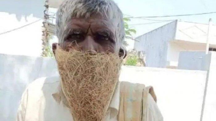 Pria Ini Ditolak Ambil Pensiun Gegara Tak Pakai Masker, Gunakan Sarang Burung Sebagai Masker