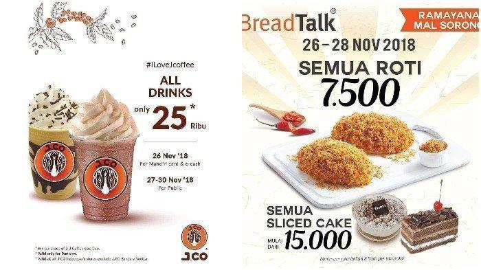 Akhir Bulan Duit Pas-pasan? Nikmati Promo Minuman di JCO Rp 25 Ribu, Roti di BreadTalk Cuma Rp 7.500
