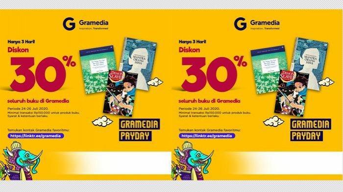 Promo Gramedia Payday: Dapatkan Diskon 30% untuk Pembelian Semua Buku, Tanpa Syarat & Ketentuan