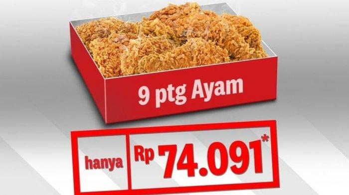 Promo Hari Pelanggan Nasional: Hanya Hari Ini, Beli 9 Potong Ayam KFC Seharga Rp 74.091