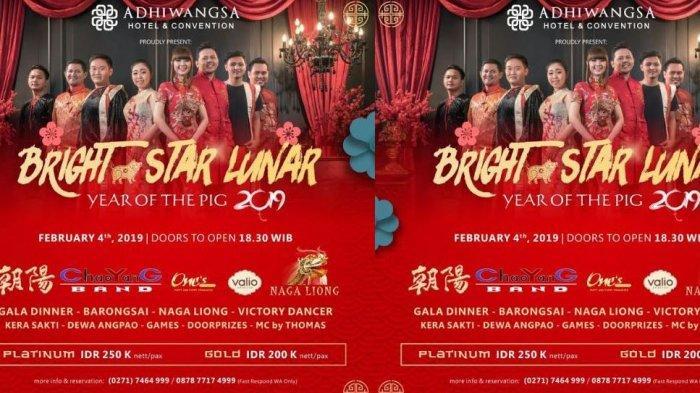 Bright Star Lunar Year of the Pig 2019 Jadi Tema Perayaan Imlek di Hotel Adhiwangsa Solo