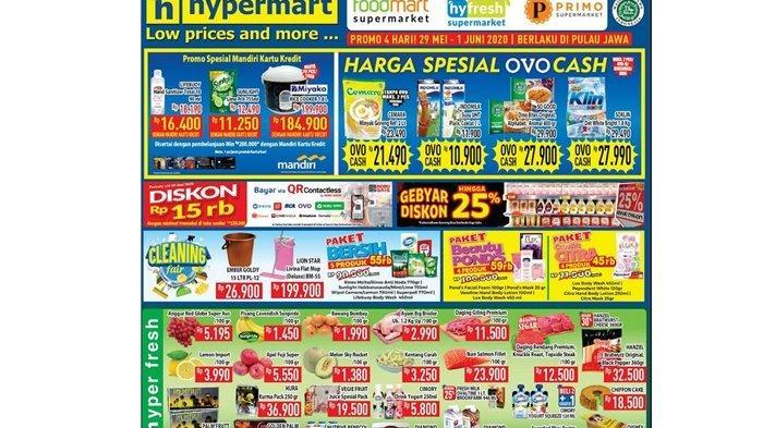 Daftar Promo Hypermart Jumat 29 Mei 2020, Dapatkan Diskon Menarik Minyak Goreng dengan OVO Cash