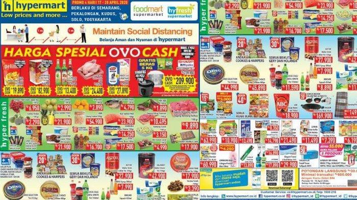 Daftar Promo Hypermart Periode 21-23 April 2020, Kini Lebih Mudah Belanja via WhatsApp