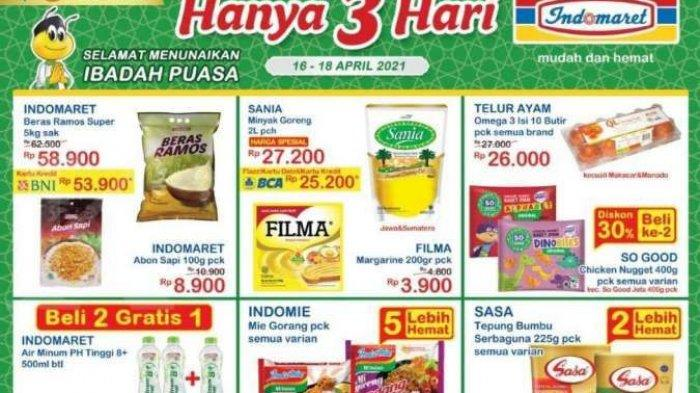 Promo <a href='https://manado.tribunnews.com/tag/indomaret' title='Indomaret'>Indomaret</a> Hari Ini, Sabtu 17 April 2021: Ada Promo Cimory Yogurt hingga Minyak Goreng