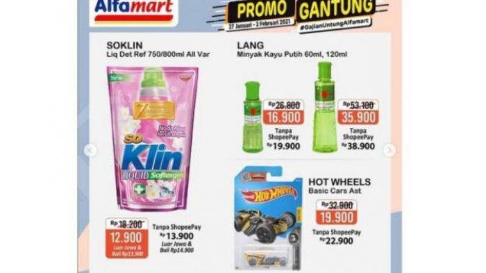 Promo Alfamart Hari Ini, Sabtu 29 Januari 2021 : Ada Promo Hot Wheels