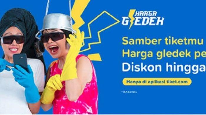Tiket.com Geber Promo 'Harga Gledek', Dapatkan Diskon Tiket Pesawat hingga 50%
