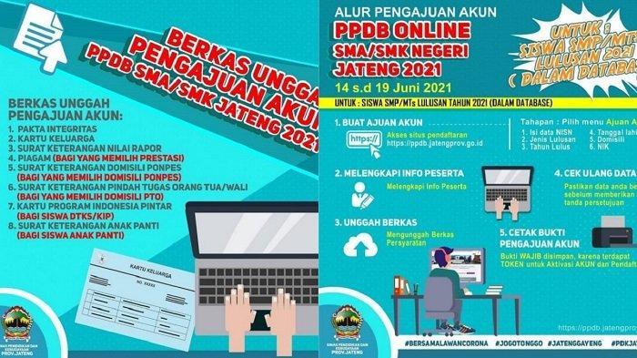 Link PPDB Online SMA/SMK di Solo & Jateng : Catat, Sabtu 19 Juni 2021 Hari Terakhir Pengajuan Akun