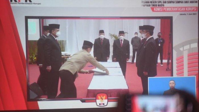 KPK Resmi Lantik 1.271 Pegawai Jadi ASN, Firli Bahuri : Tidak Kurangi Semangat Pemberantasan Korupsi
